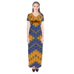 Art Digital (16)gfhhkhfddj Short Sleeve Maxi Dress