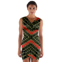 Art Digital (17)gfhhkhfdddddgnnyyr Wrap Front Bodycon Dress