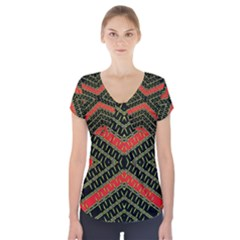 Art Digital (17)gfhhkhfdddddgnnyyr Short Sleeve Front Detail Top