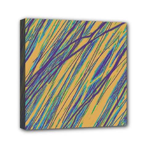 Blue and yellow Van Gogh pattern Mini Canvas 6  x 6