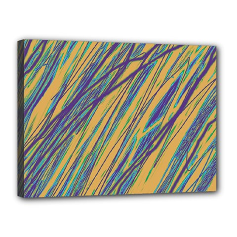 Blue and yellow Van Gogh pattern Canvas 16  x 12