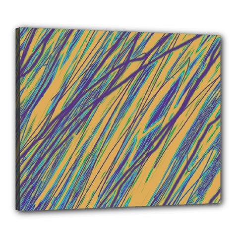 Blue and yellow Van Gogh pattern Canvas 24  x 20