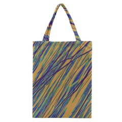 Blue and yellow Van Gogh pattern Classic Tote Bag