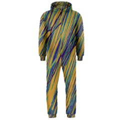 Blue and yellow Van Gogh pattern Hooded Jumpsuit (Men)
