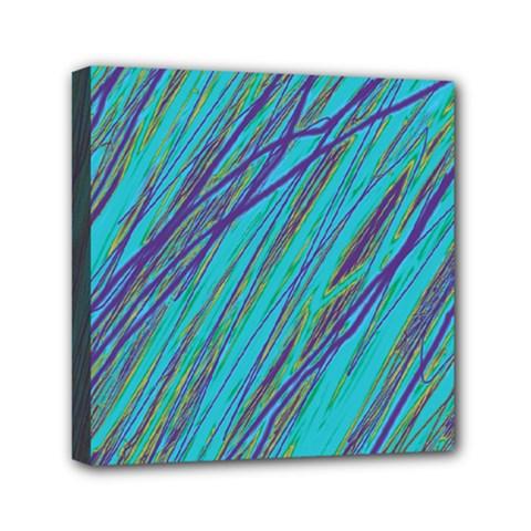 Blue pattern Mini Canvas 6  x 6