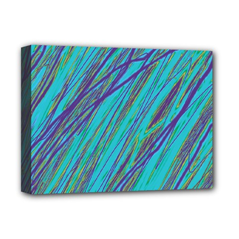 Blue pattern Deluxe Canvas 16  x 12
