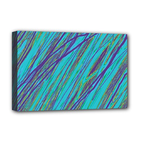 Blue pattern Deluxe Canvas 18  x 12