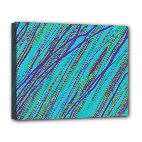 Blue pattern Deluxe Canvas 20  x 16