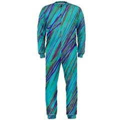 Blue pattern OnePiece Jumpsuit (Men)