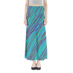 Blue pattern Maxi Skirts