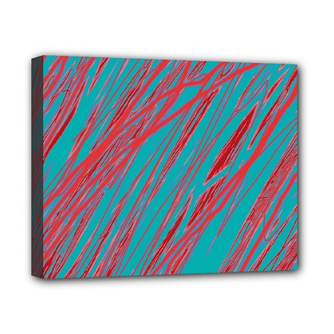 Red and blue pattern Canvas 10  x 8
