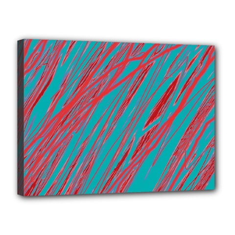 Red and blue pattern Canvas 16  x 12