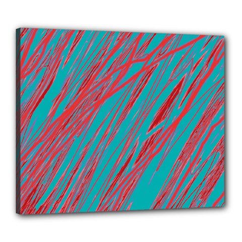Red and blue pattern Canvas 24  x 20