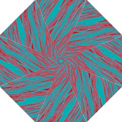 Red and blue pattern Straight Umbrellas