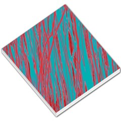Red and blue pattern Small Memo Pads