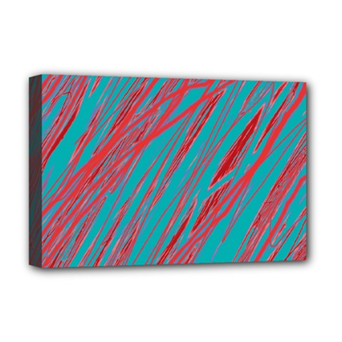 Red and blue pattern Deluxe Canvas 18  x 12