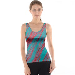 Red and blue pattern Tank Top