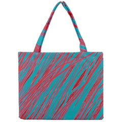 Red and blue pattern Mini Tote Bag