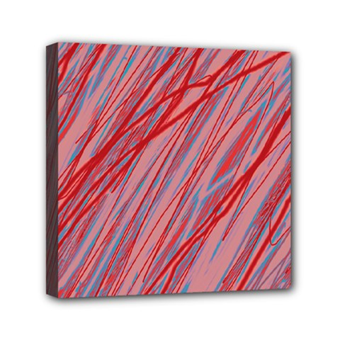 Pink and red decorative pattern Mini Canvas 6  x 6
