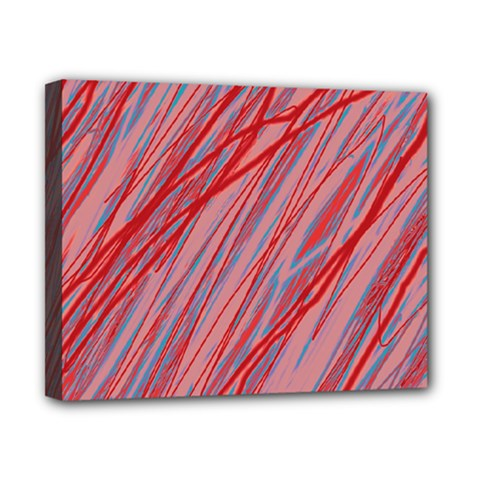 Pink and red decorative pattern Canvas 10  x 8