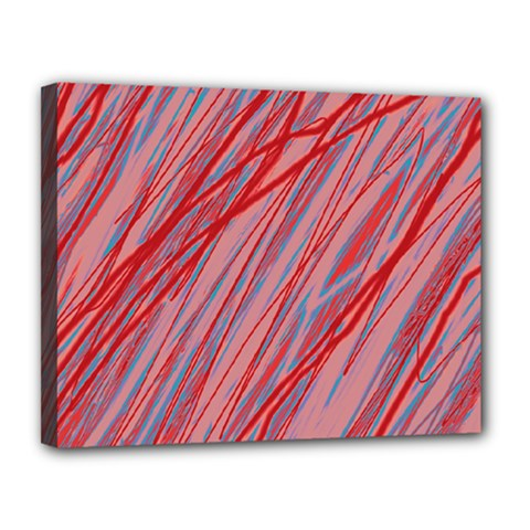 Pink And Red Decorative Pattern Canvas 14  X 11