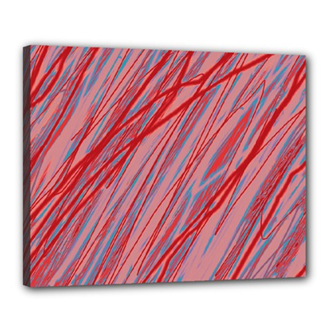 Pink and red decorative pattern Canvas 20  x 16