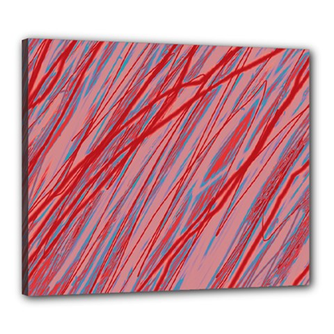 Pink and red decorative pattern Canvas 24  x 20