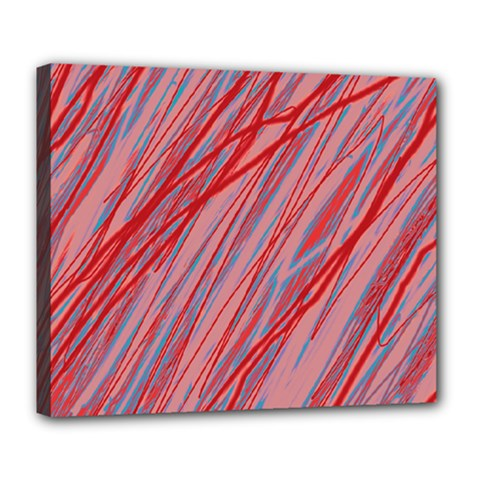 Pink and red decorative pattern Deluxe Canvas 24  x 20