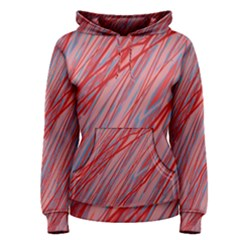 Pink and red decorative pattern Women s Pullover Hoodie