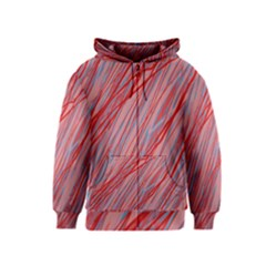 Pink and red decorative pattern Kids  Zipper Hoodie