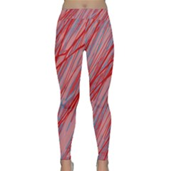 Pink and red decorative pattern Yoga Leggings