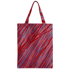 Pink and red decorative pattern Zipper Classic Tote Bag