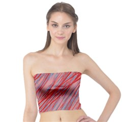 Pink and red decorative pattern Tube Top