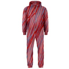 Pink and red decorative pattern Hooded Jumpsuit (Men)