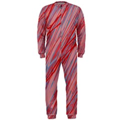 Pink and red decorative pattern OnePiece Jumpsuit (Men)