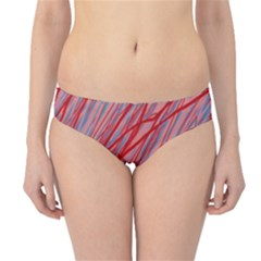 Pink and red decorative pattern Hipster Bikini Bottoms