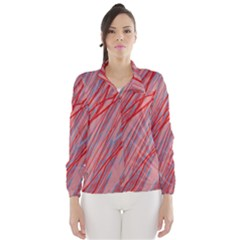 Pink and red decorative pattern Wind Breaker (Women)