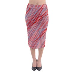 Pink And Red Decorative Pattern Midi Pencil Skirt