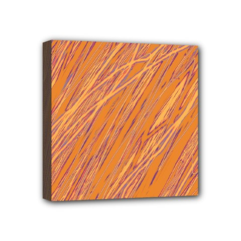 Orange pattern Mini Canvas 4  x 4