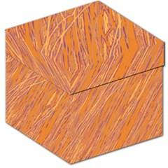 Orange pattern Storage Stool 12