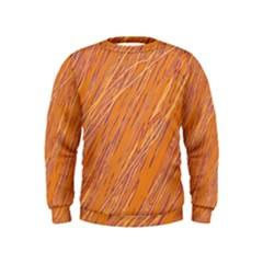 Orange pattern Kids  Sweatshirt