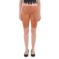 Orange pattern Yoga Cropped Leggings