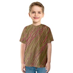 Brown elegant pattern Kid s Sport Mesh Tee