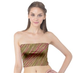 Brown elegant pattern Tube Top