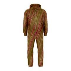 Brown elegant pattern Hooded Jumpsuit (Kids)