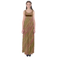 Brown elegant pattern Empire Waist Maxi Dress