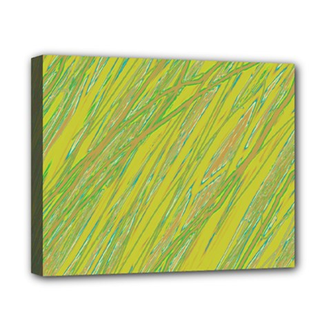 Green and yellow Van Gogh pattern Canvas 10  x 8