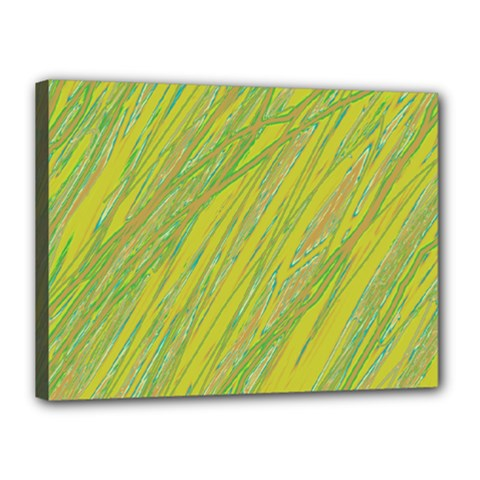 Green and yellow Van Gogh pattern Canvas 16  x 12