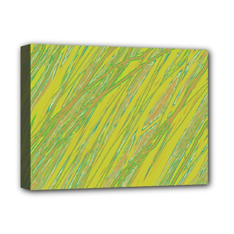 Green and yellow Van Gogh pattern Deluxe Canvas 16  x 12