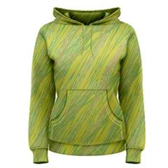 Green and yellow Van Gogh pattern Women s Pullover Hoodie
